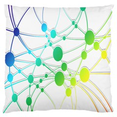 Network Connection Structure Knot Large Cushion Case (One Side)