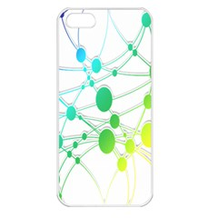 Network Connection Structure Knot Apple iPhone 5 Seamless Case (White)