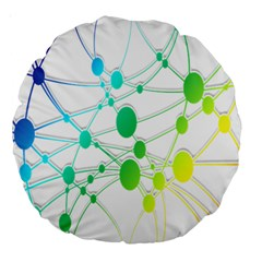 Network Connection Structure Knot Large 18  Premium Round Cushions