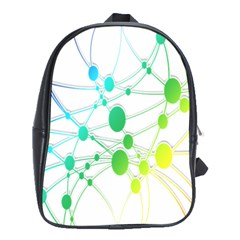Network Connection Structure Knot School Bags (XL)