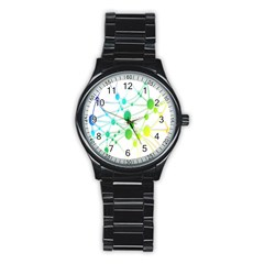 Network Connection Structure Knot Stainless Steel Round Watch