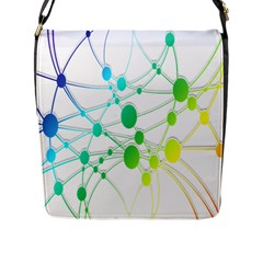 Network Connection Structure Knot Flap Messenger Bag (L)