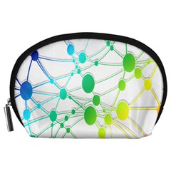 Network Connection Structure Knot Accessory Pouches (large)