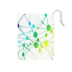 Network Connection Structure Knot Drawstring Pouches (Medium)