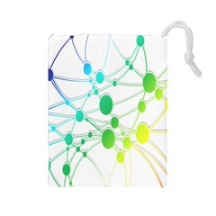 Network Connection Structure Knot Drawstring Pouches (Large)