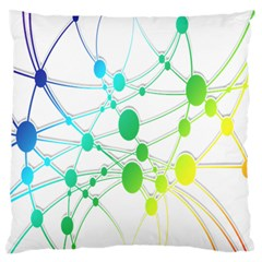 Network Connection Structure Knot Large Flano Cushion Case (Two Sides)