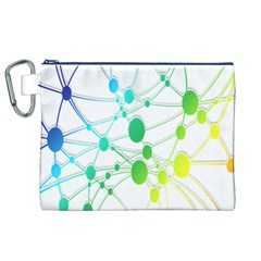 Network Connection Structure Knot Canvas Cosmetic Bag (XL)