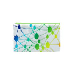 Network Connection Structure Knot Cosmetic Bag (XS)
