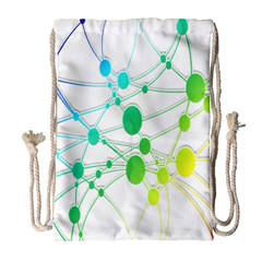 Network Connection Structure Knot Drawstring Bag (Large)