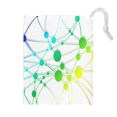 Network Connection Structure Knot Drawstring Pouches (Extra Large)