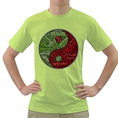 Tao Duality Binary Opposites Green T-Shirt