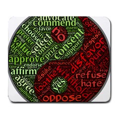 Tao Duality Binary Opposites Large Mousepads