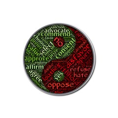 Tao Duality Binary Opposites Rubber Round Coaster (4 pack)