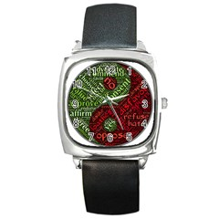 Tao Duality Binary Opposites Square Metal Watch