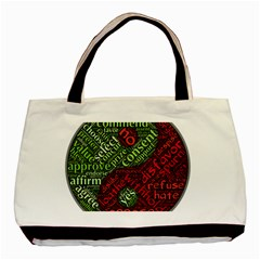 Tao Duality Binary Opposites Basic Tote Bag