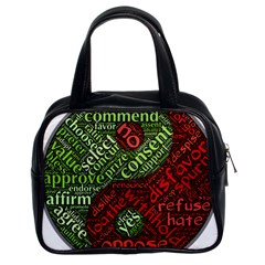 Tao Duality Binary Opposites Classic Handbags (2 Sides)