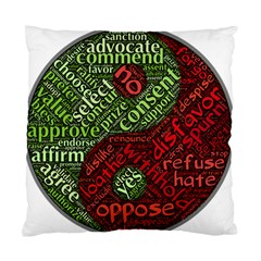 Tao Duality Binary Opposites Standard Cushion Case (One Side)