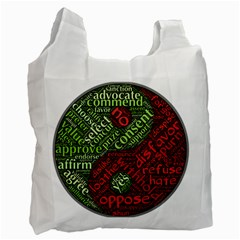 Tao Duality Binary Opposites Recycle Bag (One Side)