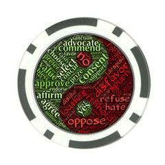 Tao Duality Binary Opposites Poker Chip Card Guard (10 pack)