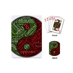 Tao Duality Binary Opposites Playing Cards (Mini)