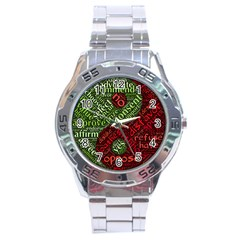Tao Duality Binary Opposites Stainless Steel Analogue Watch