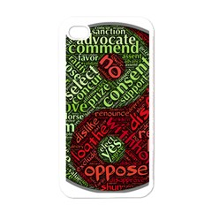 Tao Duality Binary Opposites Apple iPhone 4 Case (White)
