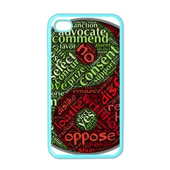 Tao Duality Binary Opposites Apple iPhone 4 Case (Color)
