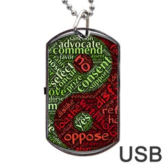 Tao Duality Binary Opposites Dog Tag USB Flash (One Side)