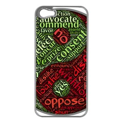 Tao Duality Binary Opposites Apple iPhone 5 Case (Silver)