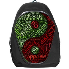 Tao Duality Binary Opposites Backpack Bag