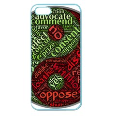 Tao Duality Binary Opposites Apple Seamless Iphone 5 Case (color)
