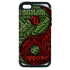 Tao Duality Binary Opposites Apple Iphone 5 Hardshell Case (pc+silicone)