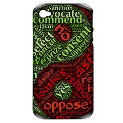 Tao Duality Binary Opposites Apple Iphone 4/4s Hardshell Case (pc+silicone)