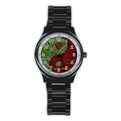 Tao Duality Binary Opposites Stainless Steel Round Watch