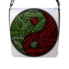Tao Duality Binary Opposites Flap Messenger Bag (L)