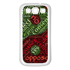Tao Duality Binary Opposites Samsung Galaxy S3 Back Case (White)