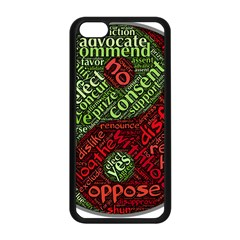 Tao Duality Binary Opposites Apple iPhone 5C Seamless Case (Black)