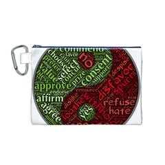 Tao Duality Binary Opposites Canvas Cosmetic Bag (m)