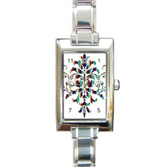 Damask Decorative Ornamental Rectangle Italian Charm Watch
