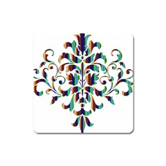 Damask Decorative Ornamental Square Magnet