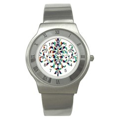 Damask Decorative Ornamental Stainless Steel Watch