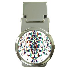 Damask Decorative Ornamental Money Clip Watches