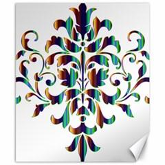 Damask Decorative Ornamental Canvas 8  x 10