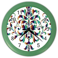 Damask Decorative Ornamental Color Wall Clocks