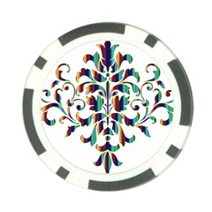 Damask Decorative Ornamental Poker Chip Card Guard