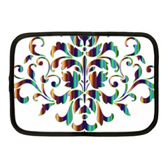 Damask Decorative Ornamental Netbook Case (Medium)