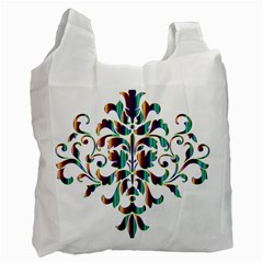 Damask Decorative Ornamental Recycle Bag (Two Side)