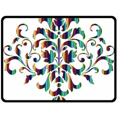 Damask Decorative Ornamental Fleece Blanket (Large)