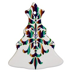 Damask Decorative Ornamental Ornament (Christmas Tree)