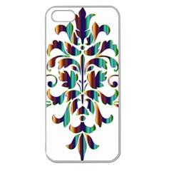 Damask Decorative Ornamental Apple Seamless iPhone 5 Case (Clear)